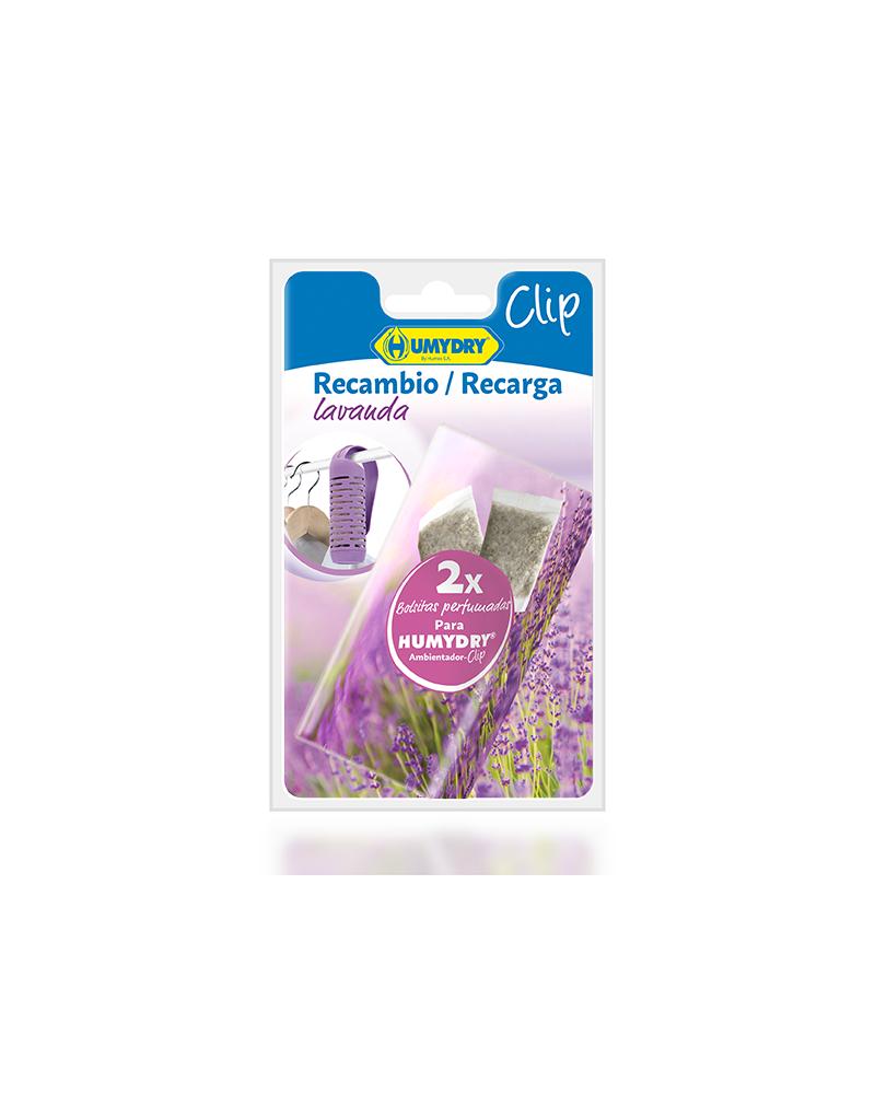 HUMYDRY® Recambios Ambientador Clip Armario 2x6g