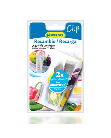 HUMYDRY® Recambios Absorbeolores Clip Nevera 2x15g