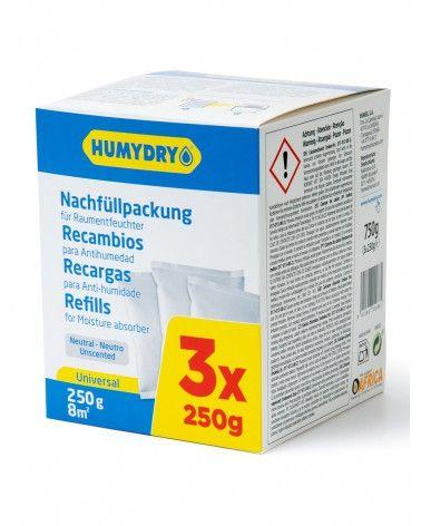 Humydry Recambios Antihumedad 3x250g