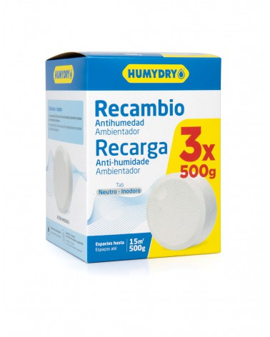 Humydry Recambios Tab 3x500g
