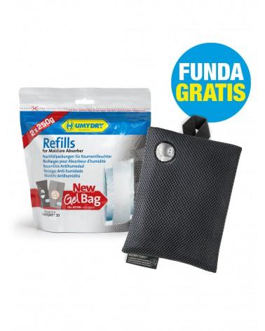 HUMYDRY® Recambios Antihumedad Gel Bag 2x250g + 3D Armario